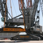 Liebherr LR 13000 and LR 11350 crawler crane