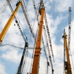 Spierings mobile tower cranes on parade